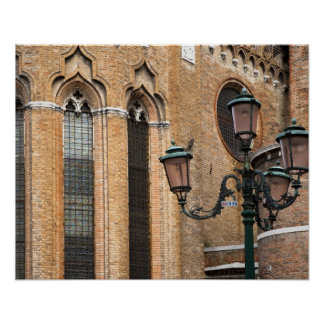 Venice, Veneto, Italy - A lamp post is standing Poster