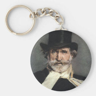 verdi basic round button key ring