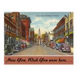 Vermont, Church Street, Burlington Postcard