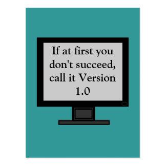 Version 1.0 Postcard