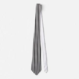 Vertical Stripes Tie, Black and Gray Tie