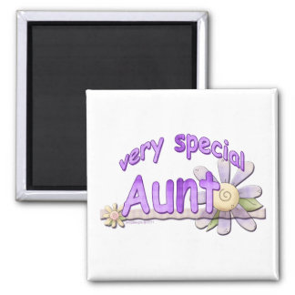 Very Special Great Aunt Flower Square Magnet