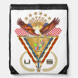 Veteran Afghanistan View about Design Drawstring Bag