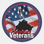 Veterans Round Sticker