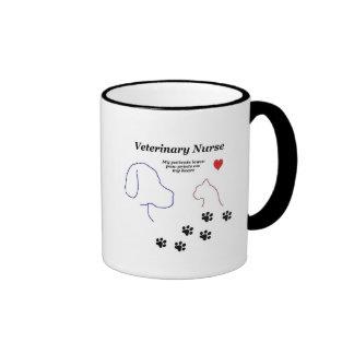 Veterinary Nurse-Paw Prints on My Heart Ringer Mug