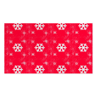 Vibrant Cute Christmas SnowFlakes Pack Of Standard Business Cards