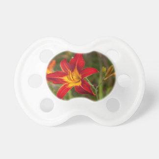 Vibrant orange Lily Pacifier