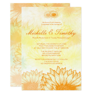 Vibrant Sunflowers Wedding Invitations