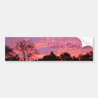 Vibrantly Pink Sunrise Bumper Sticker