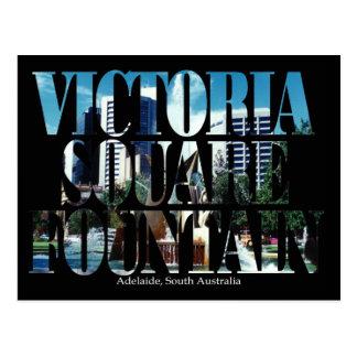 Victoria Square Fountain Postcard