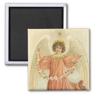 Victorian Angel with Star Fridge Magnet