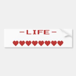 Video Game Heart Life Meter Bumper Sticker