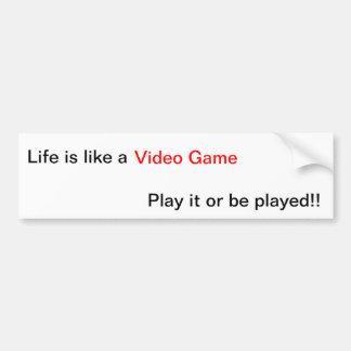Video Game Life Lesson Bumper Sticker