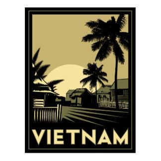 vietnam southeast asia art deco retro travel postcard