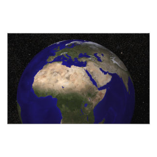 View of Africa, Europe, the Middle East, and In Photo Art