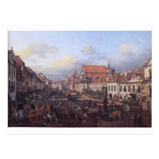 View of Cracow Suburb leading to the Castle Square Postcard