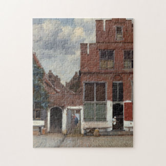 View of houses in Delft by Johannes Vermeer Jigsaw Puzzles
