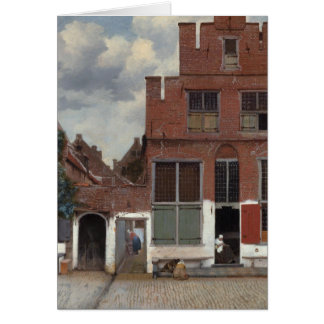 View of houses in Delft The Little Street Greeting Card