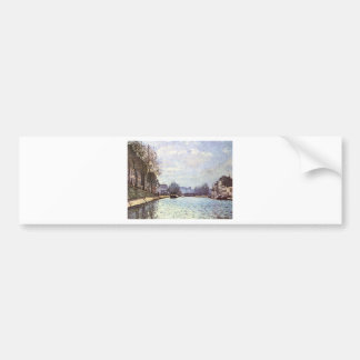 View of the Canal Saint Martin by Alfred Sisley Bumper Sticker