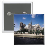 View of the Cathedral from the Seine, 1163-1345 15 Cm Square Badge