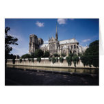 View of the Cathedral from the Seine, 1163-1345 Greeting Card