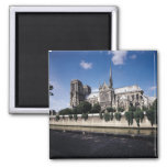 View of the Cathedral from the Seine, 1163-1345 Square Magnet
