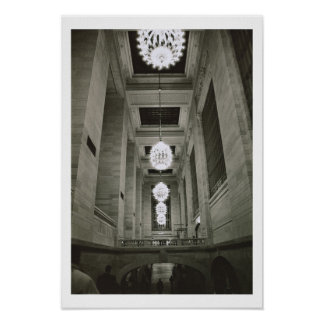 View of the lamps (b/w photo) poster