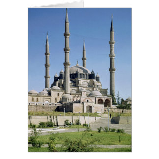 View of the mosque, Ottoman, built c.1569-75 Greeting Card