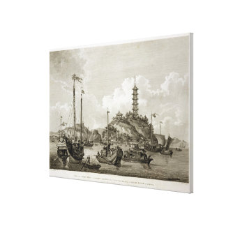 View of the Tchin Shan, or Golden Island, in the Y Gallery Wrapped Canvas