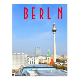View of the Television Tower in Berlin, Germany Postcard