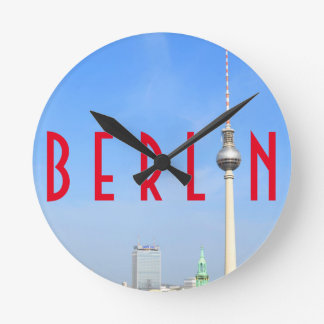 View of the Television Tower in Berlin, Germany Wall Clocks
