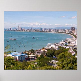 View over Pattaya bay. Poster