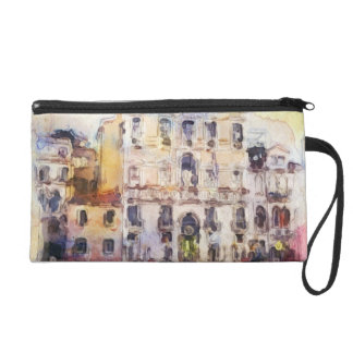 Views od Venice made in artistic watercolor Wristlet Clutches