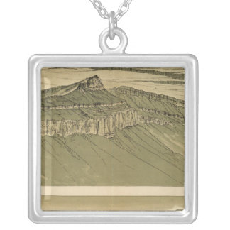 Views of the Marble Canyon Platform Square Pendant Necklace