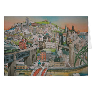 Views past and present of Newcastle upon Tyne Greeting Card