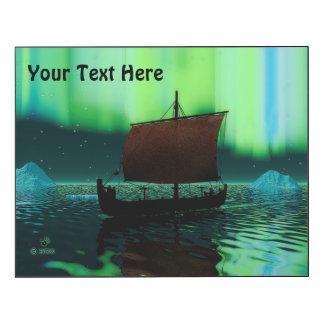 Viking Ship And Northern Lights