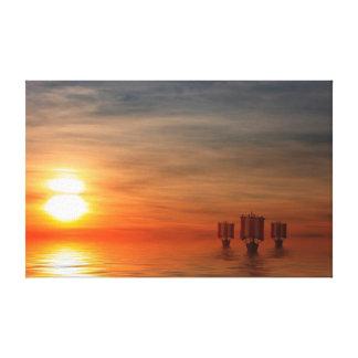 Viking Ships Canvas Print