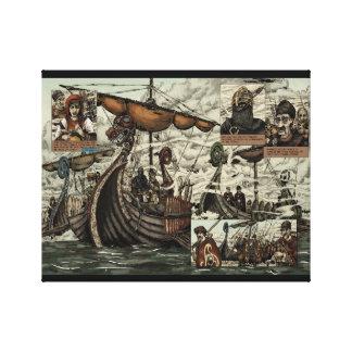 Viking ships canvas prints