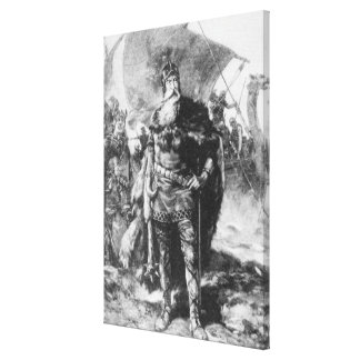 Viking Warrior Stretched Canvas Prints