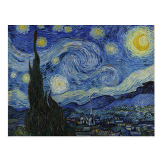 Vincent van Gogh Iconic Starry Night Postcard