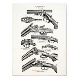 Vintage 1800s Shotgun Antique Shot Guns Old Rifles Photo Art