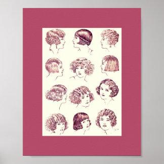 Vintage 1924 Women's Hair Styles Poster