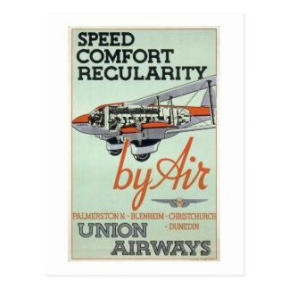 Vintage 1930s Airline Postcard