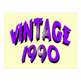 Vintage 1990 postcard