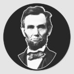 Vintage Abe Lincoln Round Sticker