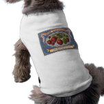 Vintage Ad for Fresh Strawberries circa 1868 Sleeveless Dog Shirt