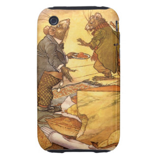 Vintage Aesop's Fable, Country Mouse, City Mouse Tough iPhone 3 Case