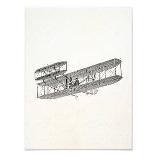 Vintage Airplane Retro Old Biplane Plane Biplanes Photographic Print