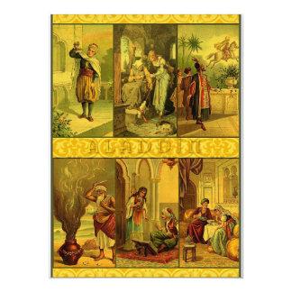 Vintage Aladdin Christmas Montage 14 Cm X 19 Cm Invitation Card