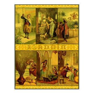 Vintage Aladdin Christmas Montage Postcard